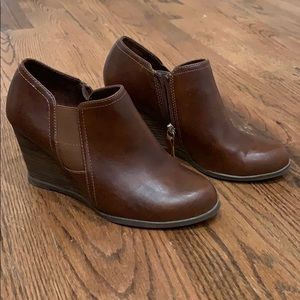 Dr Scholl's Memory Foam Brown Booties Size 7.5